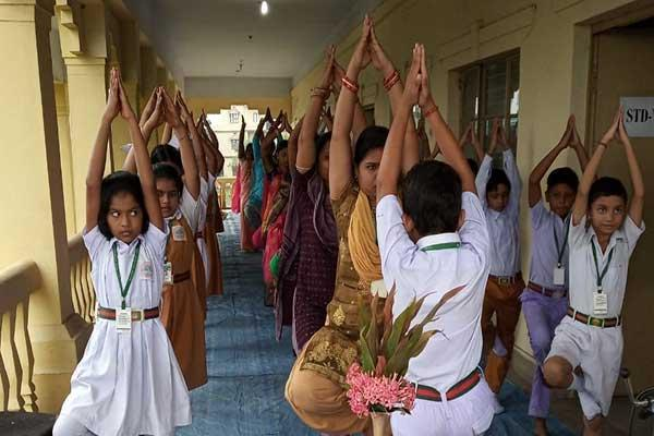 MVM School Angul celebrated Yoga Day.